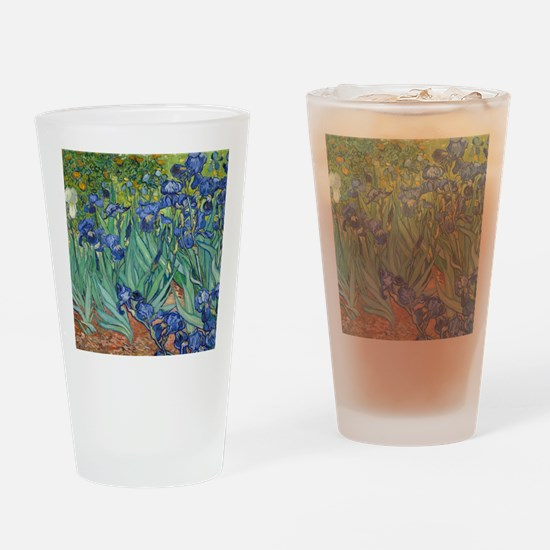 Irises by Vincent Van Gogh Drinking Glass
