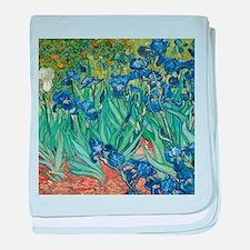 Irises by Vincent Van Gogh baby blanket