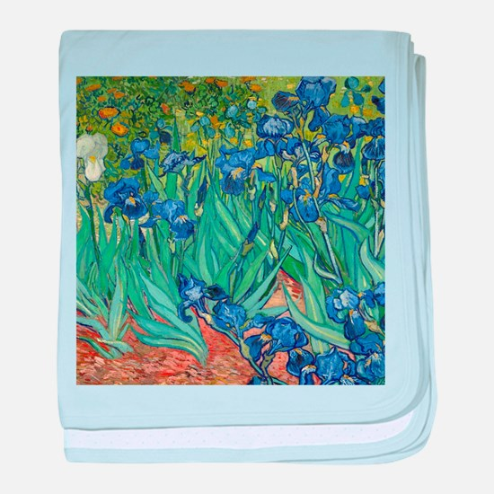 Irises by Vincent Van Gogh baby blanket