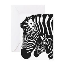 Zebra Power Greeting Card
