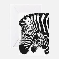 Zebra Power Greeting Card