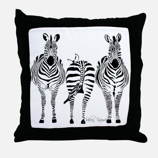 Zebra Power Throw Pillow