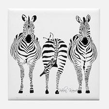 Zebra Power Tile Coaster