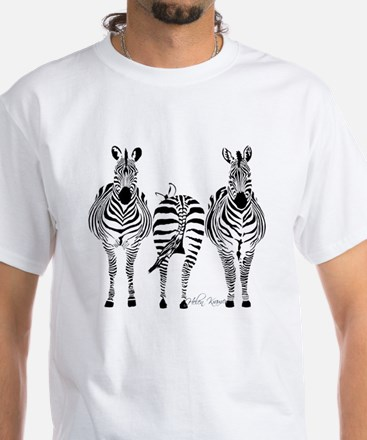 Zebra Power White T-Shirt