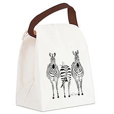 Zebra Power Canvas Lunch Bag