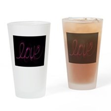Unique Peace love curling Drinking Glass