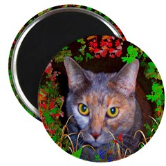 Yellow-Eyed Cat Art 2.25