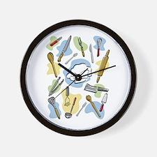 Cute Meat cleavers Wall Clock