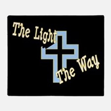 The Light The Way (black) (2-Sided) Throw Blanket