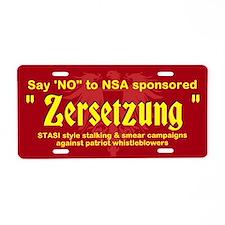 Zersetzung Aluminum License Plate