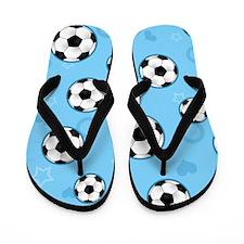 Unique Girls soccer Flip Flops
