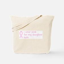 Daughter Halle (wear pink) Tote Bag