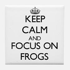 Keep calm frog Tile Coaster