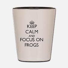 Unique Keep calm frog Shot Glass