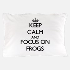 Keep calm frog Pillow Case