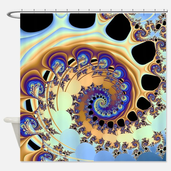 Cute Psychedelic art Shower Curtain