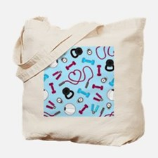 Fitness Love Pattern Blue and Purple Tote Bag
