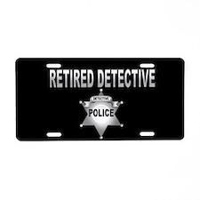 Unique Retired police officer Aluminum License Plate