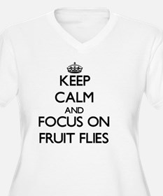 Keep Calm and focus on Fruit Flies Plus Size T-Shi