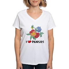 I Love Pansies Shirt