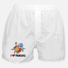 I Love Pansies Boxer Shorts