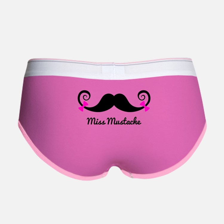Cute Funny mustache Women's Boy Brief