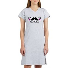 Cute Mustache Women's Nightshirt