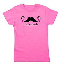 Cute Mustache Girl's Tee
