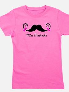 Cute Mustaches Girl's Tee
