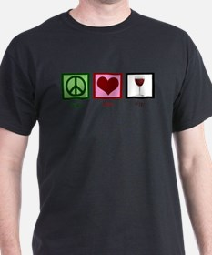 Peace Love Wine T-Shirt
