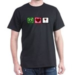 Peace Love Wine Dark T-Shirt