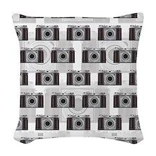 Retro Camera Woven Throw Pillow