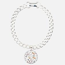 Cute Nurse Love Pattern White Bracelet