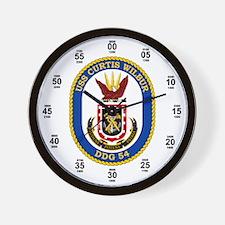 USS Curtis Wilbur DDG-54 Wall Clock