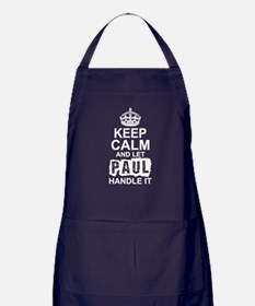 Keep Calm and Let Paul Handle It Apron (dark)