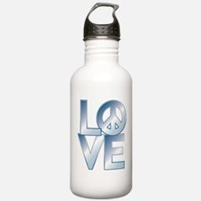 Funny 1970s peace sign Water Bottle