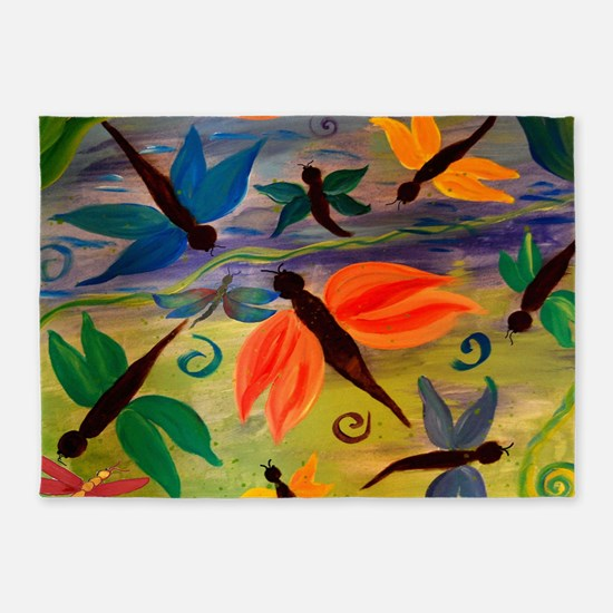 Dragonfly Party 5'x7'area Rug