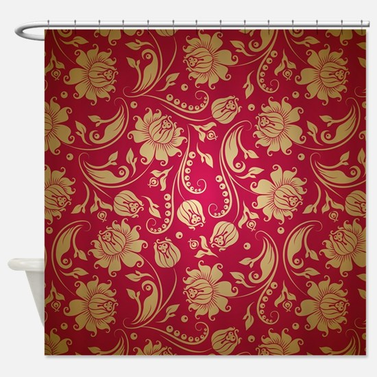 red and gold shower curtain. Cute Maroon and gold Shower Curtain And Gold Curtains  CafePress