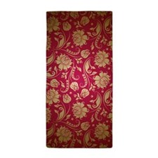 Cute Maroon Beach Towel