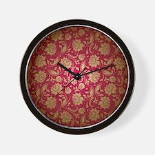 Cute Red gold Wall Clock