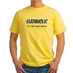 Sledaholic Yellow T-Shirt