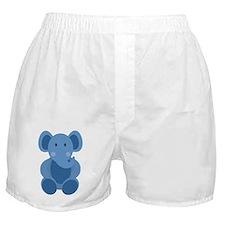 Blue Elephant Boxer Shorts