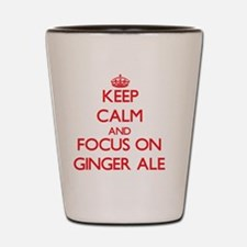 Funny Keep calm and ginger on Shot Glass