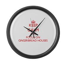 Unique Gingerbread Large Wall Clock