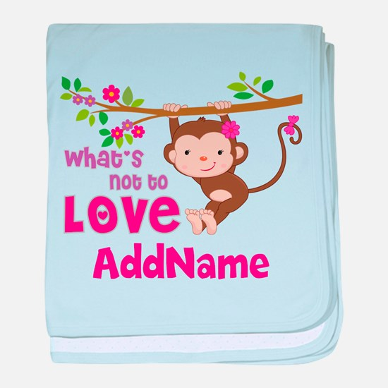 Whats Not to Love Personalized baby blanket