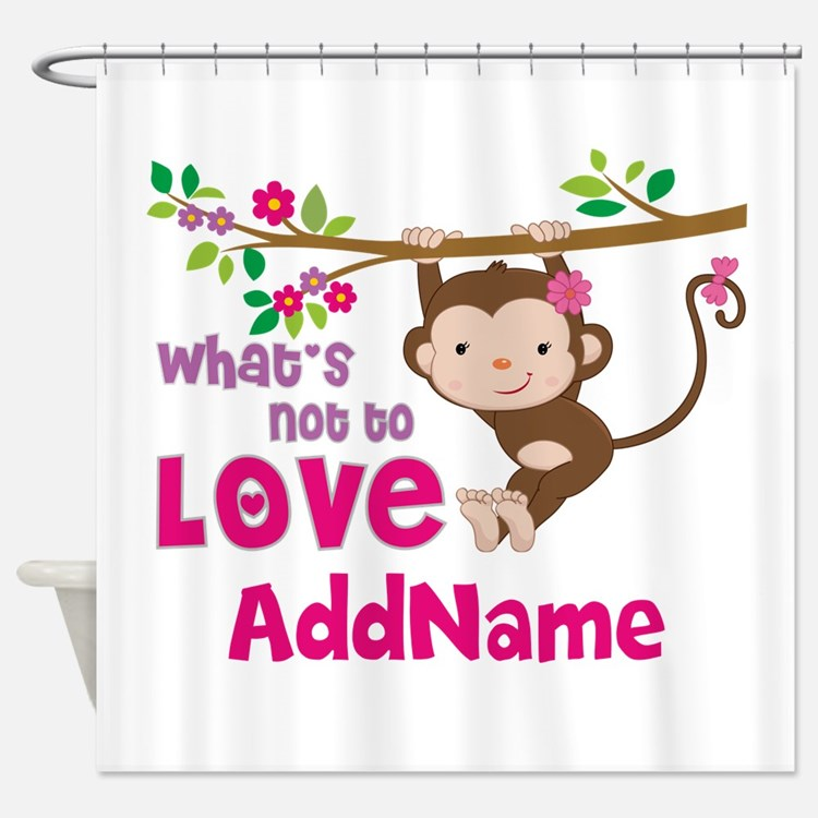 Whats Not to Love Personalized Shower Curtain