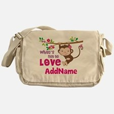 Whats Not to Love Personalized Messenger Bag