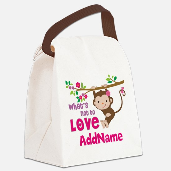 Whats Not to Love Personalized Canvas Lunch Bag