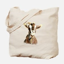 Watercolor Goat Farm Animal Tote Bag
