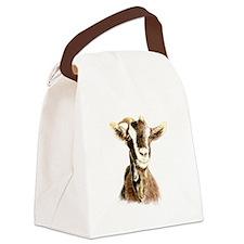 Watercolor Goat Farm Animal Canvas Lunch Bag